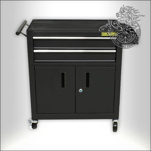 Tank Storm Workstation with 2 Drawers and Wheels