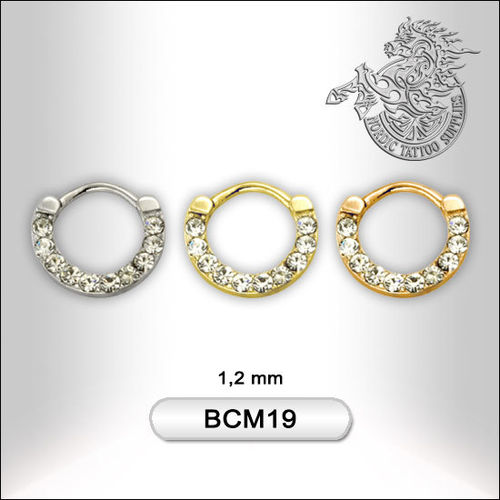 Surgical Steel Septum with Jewelled Design