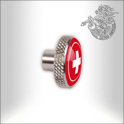 Swiss Rotary Front Screw, Steel with Red Sticker