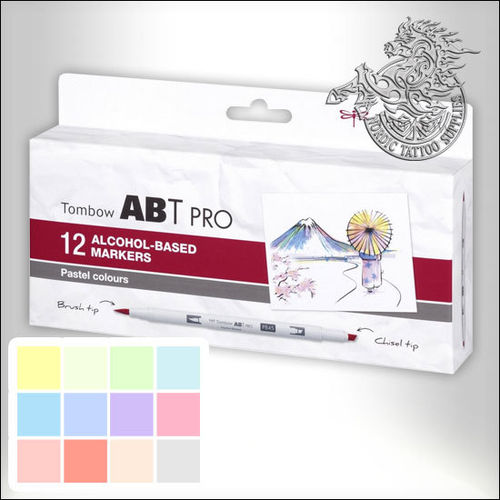 Tombow PRO Pens 12pcs Pastel Colours