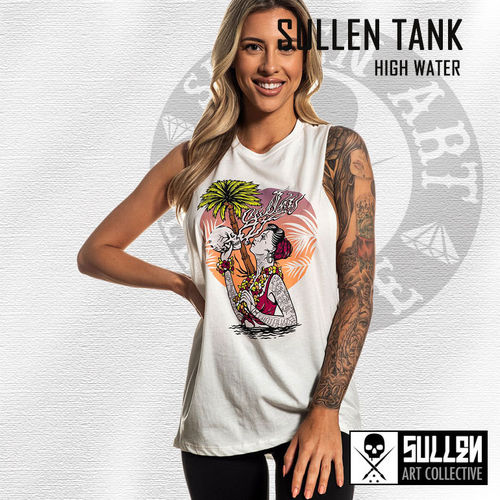 Sullen Angels - High Water Muscle Tank - Antique White