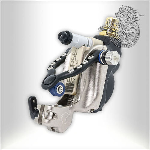Inkjecta Eclipse Rotary Tattoo Machine - Black & SIlver