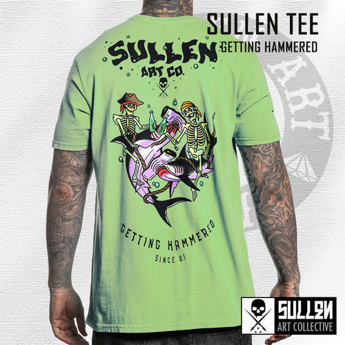 Sullen - Getting Hammered Tee - Neptune Green