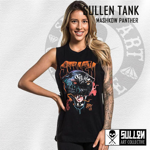 Sullen Angels - Mashkow Panther Muscle Tank - Black