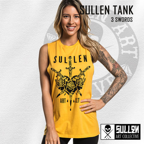 Sullen Angels - 3 Swords Muscle Tank - Gold Fusion Yellow
