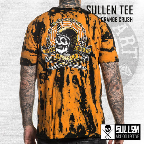 Sullen - Orange Crush Tee - Black/Apricot Crystal Wash