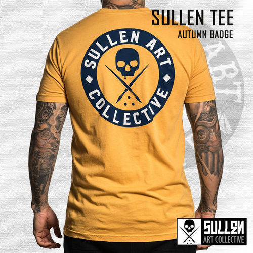 Sullen - Autumn Badge Tee - Mustard