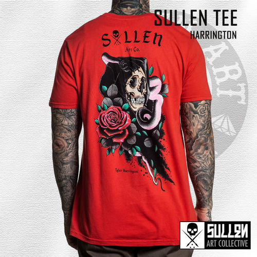 Sullen - Harrington Tee - Hibiscus Red