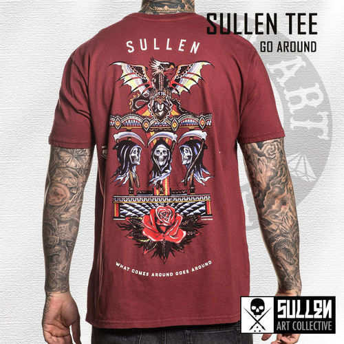 Sullen - Go Around Tee - Rosewood Red