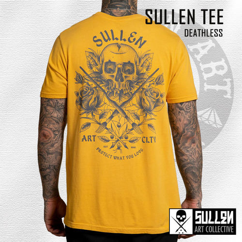 Sullen - Deathless Tee - Mustard Yellow