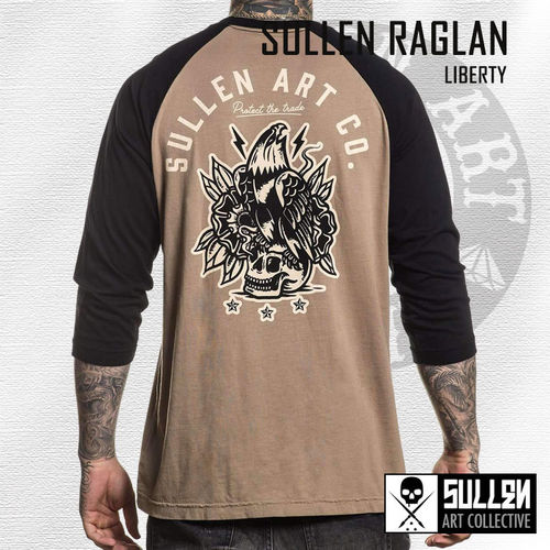 Sullen - Liberty Raglan - Lead Grey/Black