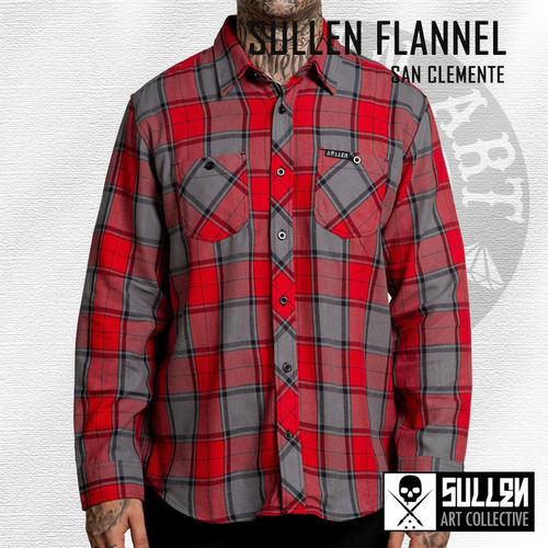 Sullen - San Clemente Flannel - Red/Grey
