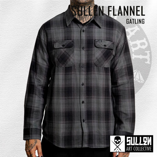 Sullen - Gatling Flannel - Black/Grey