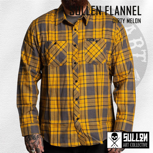 Sullen - Dirty Melon Flannel - Mustard/Grey