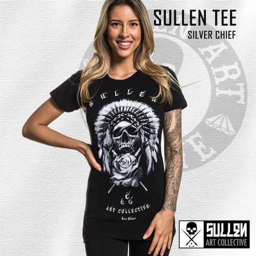 Sullen Angels - Silver Chief Tee - Black