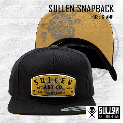 Sullen Snapback - Rose Stamp - Black