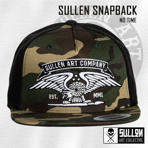 Sullen Snapback - No Time - Camo/Black