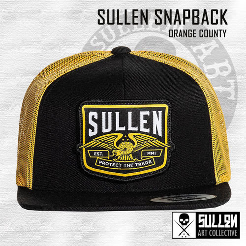 Sullen Snapback - Orange County - Black/Orange