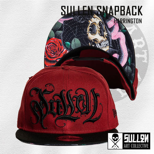 Sullen Snapback - Harrington - Burgundy/Black
