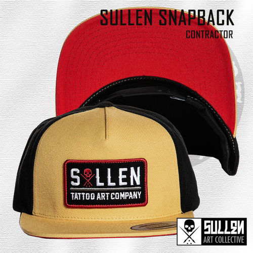 Sullen Snapback - Contractor - Curry/Black/Red