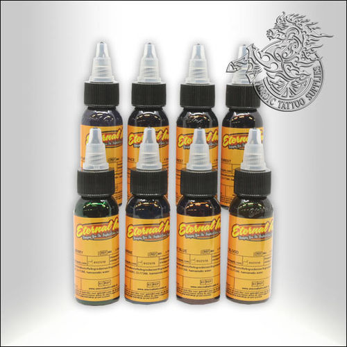 Eternal Ink, Big Gus Set 30ml, 8 Colors
