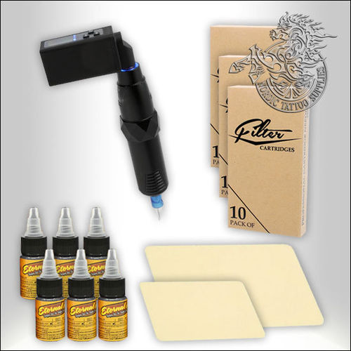 EZ P4SE Tattoo Pen Starter Set with Wireless Power Pack