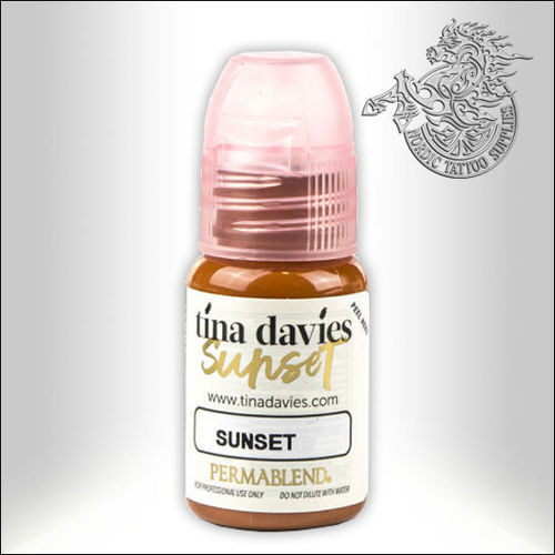 Perma Blend Permanent Makeup Pigment 15ml - Tina Davies Sunset - Sunset