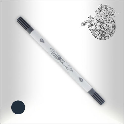 Squidster Tattoo -  2 in 1 - Non sterile Brush-Pen - Dark Grey
