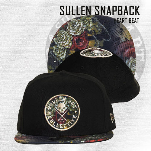 Sullen Snapback - Heart Beat - Black
