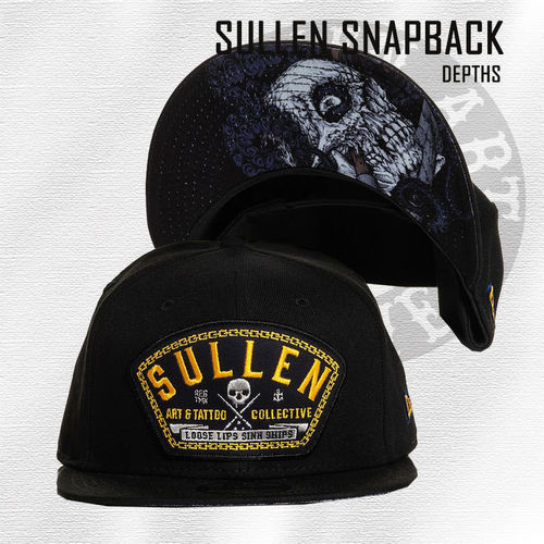 Sullen Snapback - Depths - Black