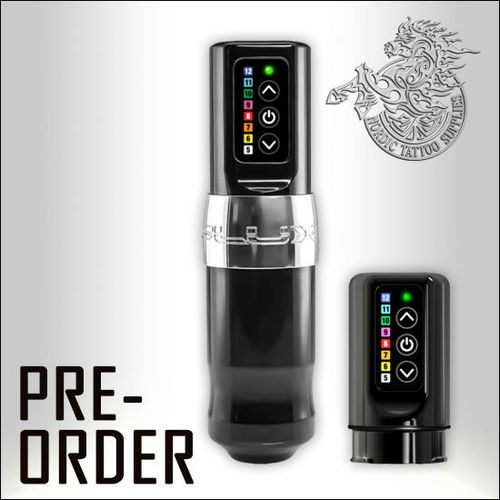 FK Irons Spectra Flux Wireless Tattoo Machine - Chromium with additional Powerbolt PRE-ORDER