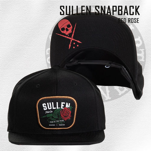 Sullen - Red Rose Snapback - Black