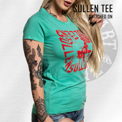 Sullen Angels - Switched On Tee - Florida Keys Teal