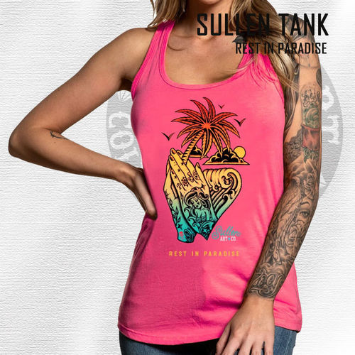 Sullen Angels - Rest in Paradise Tank - Paradise Pink