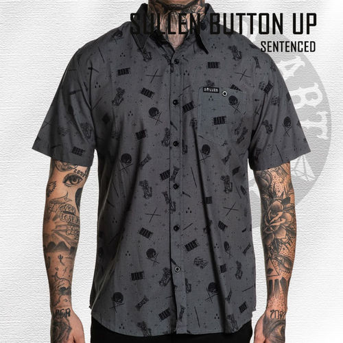 Sullen - Sentenced Button Up - Charcoal Grey