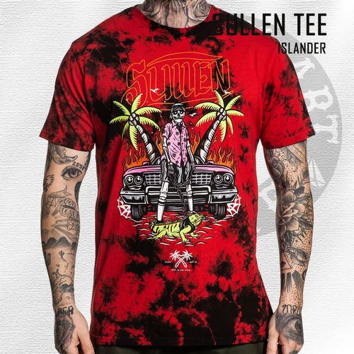 Sullen - Islander Tee - Black & Red Wash
