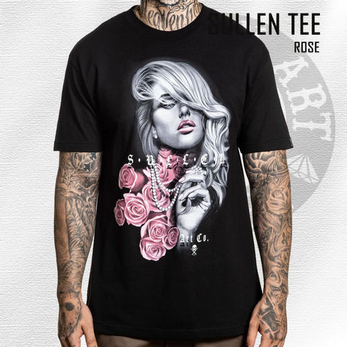 Sullen - Rose Tee - Black