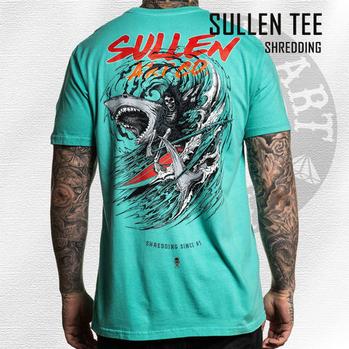 Sullen - Shredding Tee - Florida Keys Teal