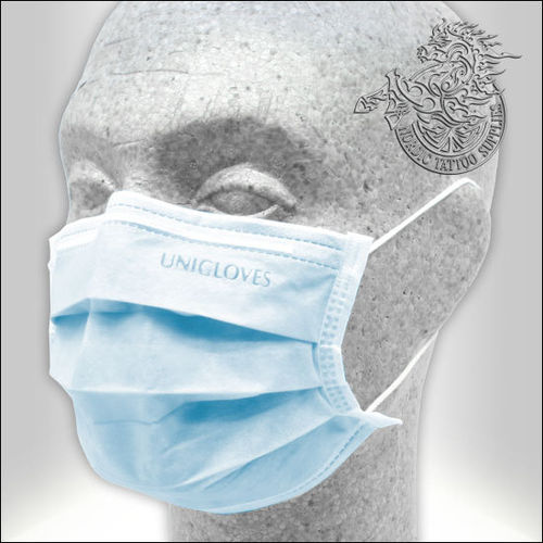 Unigloves Profil Plus Surgical Face Mask 50pcs - Blue - Type II-R