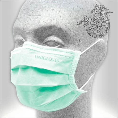 Unigloves Profil Plus Surgical Face Mask 50pcs - Green - Type II-R