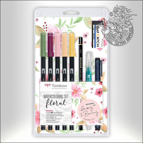 Tombow ABT Dual Brush Watercoloring Set - Floral