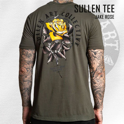 Sullen - Jake Rose Tee - Olive Green