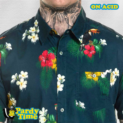 Pardy Time - On Acid Button Up - Green