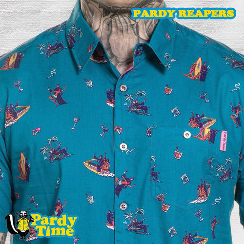 Pardy Time - Pardy Reapers Button Up - Blue
