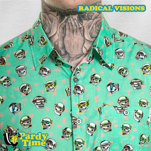 Pardy Time - Radical Visions Button Up - Neptune Green