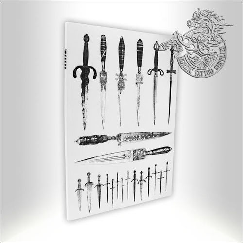 Tattoo Book - Illustrated Monthly - Daggers