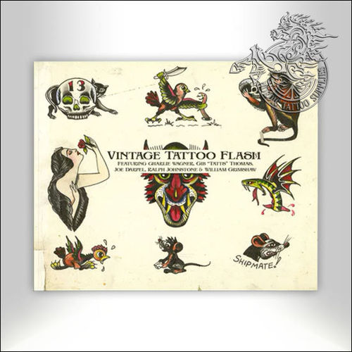 Tattoo Book - Illustrated Monthly - Vintage Tattoo Flash from the Silver Screen