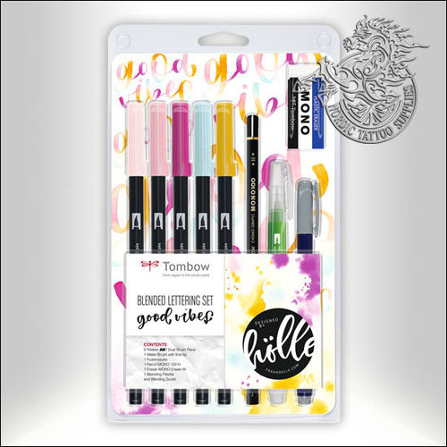 Tombow ABT Dual Brush Blended Lettering Set - Good Vibes