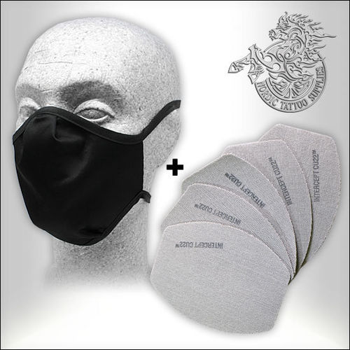 Intercept CU22 Mask Set - Black + 5 Replacement Filters Combo - Made in Germany