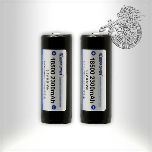Keeppower 18500 2300mAh Protected 4.5A Battery - 2 pack
